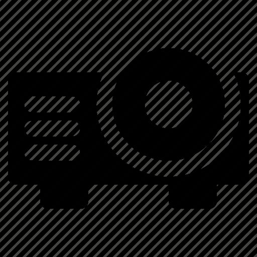 broadcast, interest, magazine, news, projector0, reportage icon