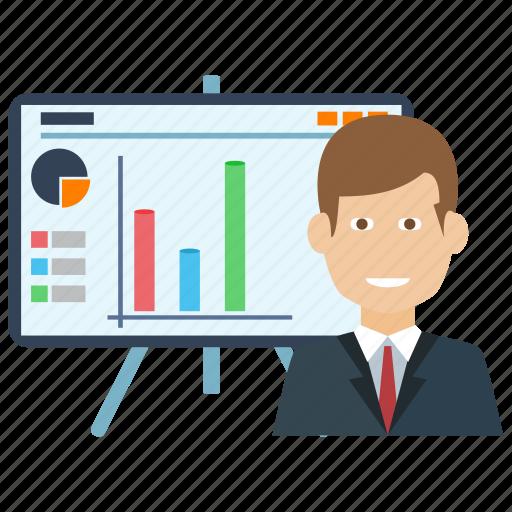 analytics, business, finance, media, news, statistic icon