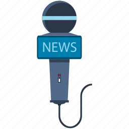 information, media, microphone, news icon