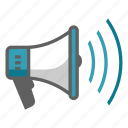 announcement, broadcast, communication, loudspeaker, megaphone, news, speech icon
