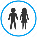 couple, family, love, male female, pair, people, romance icon