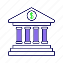 account, bank, banking, building, deposit, dollar sign, money icon