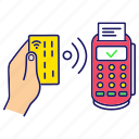 contactless, credit card, nfc, payment, pos terminal, purchase, transaction icon