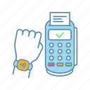 contactless, eletronic, nfc, payment, pos terminal, purchase, smartwatch icon