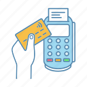 cashless, credit card, nfc, payment, pos terminal, purchase, transaction icon