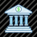 account, bank, banking, building, deposit, dollar sign, money
