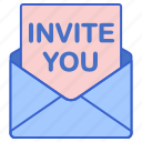 mail, letter, invitation