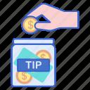 money, jar, tip