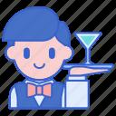 waiter, restaurant, service