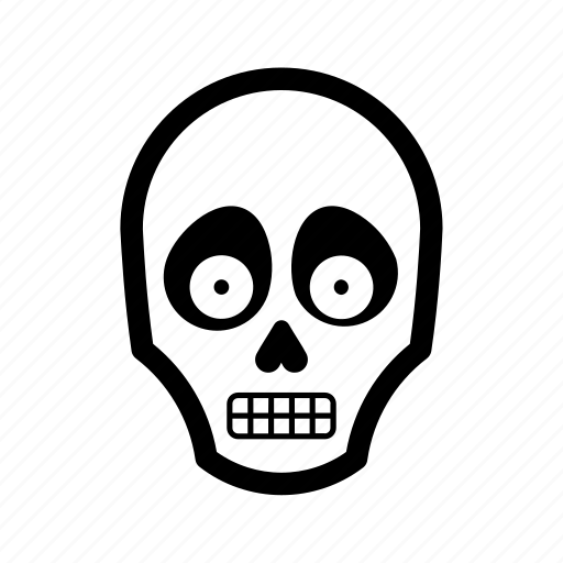 death, halloween, skeleton, skull, spooky icon