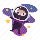 avatar, emoji, emoticon, ninja, outer, space icon