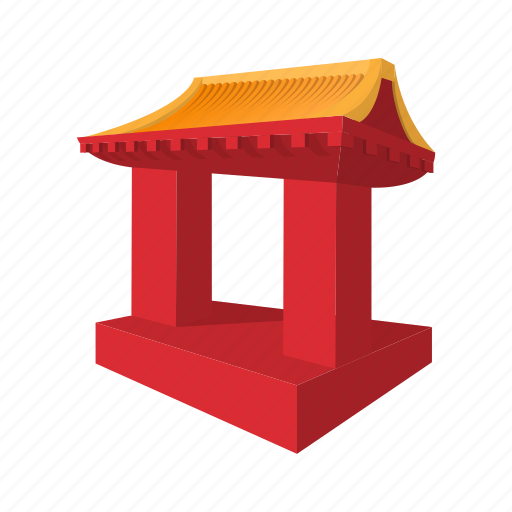 Architecture, asia, cartoon, culture, gate, japanese, roof icon - Download on Iconfinder