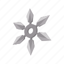 blade, cartoon, ninja, sharp, shuriken, star, weapon icon