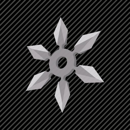 blade, cartoon, ninja, sharp, shuriken, star, weapon icon