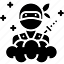 assassin, invisible, japan, man, ninja icon