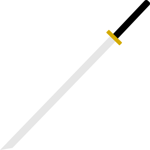 katana, knife, ninja, sword icon