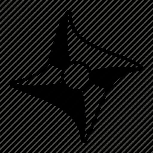 ninja, range, shuriken, star, throw, tool, weapon icon