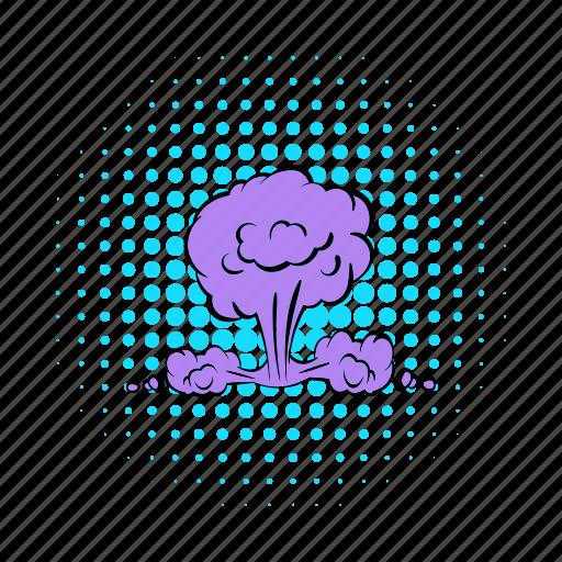 atomic, bomb, cloud, comics, explosion, mushroom, nuclear icon