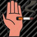 no, smoking, no smoking, cigarette, smoke, no cigarette, hand