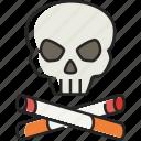 skull, cigarettes skull, cigarette, no smoking, death, smoking, skeleton