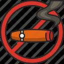 cigar, no cigar, tobacco, smoking, smoke, no-smoking, cigarette