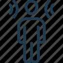loud, man, noise, sound, wave icon