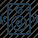 loud, music, noise, sound, speaker, wave icon