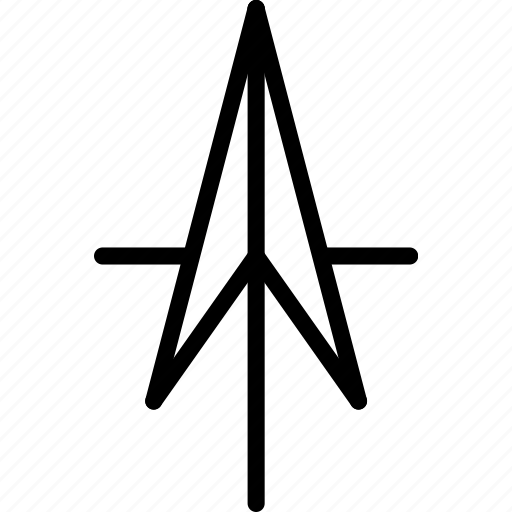 arrow, direction, north, point icon