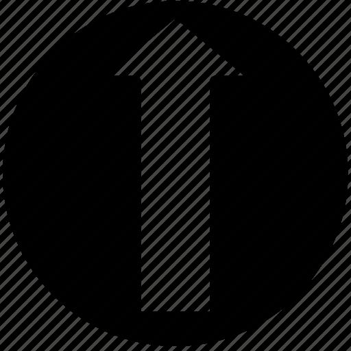arrow, north, point, solid icon