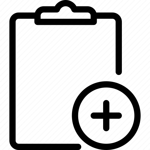 Add, task, paper, plus, document icon