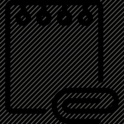 attache, document, folder, note, paper icon