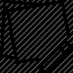document, edit, it, paper, post icon