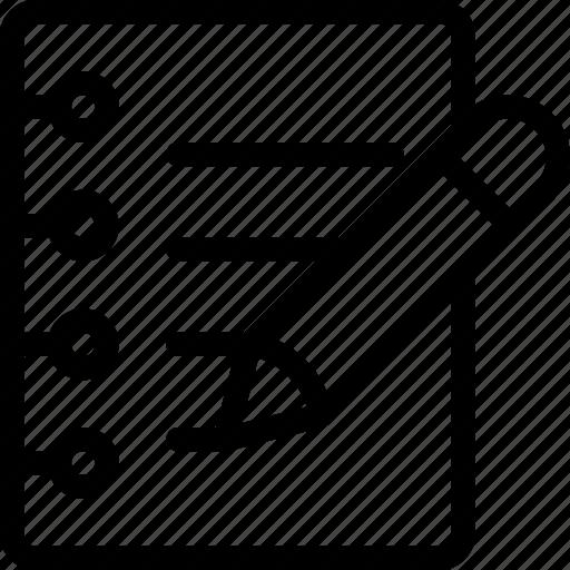 document, note, paper, pencil, write icon
