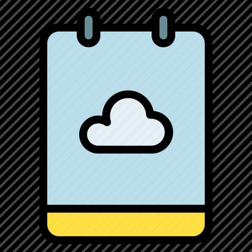 backup, cloud, memo, note icon