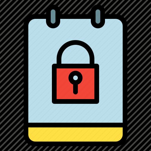 locked, memo, note, private icon