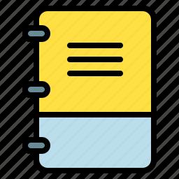 book, menu, note, selection icon