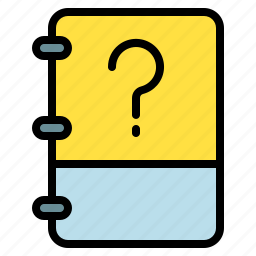 book, note, question, unknown icon