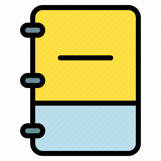 book, minus, note, reduce icon