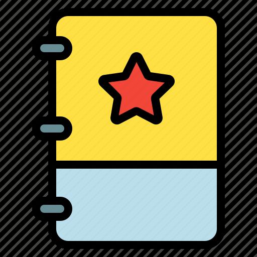 book, favorite, note, star icon