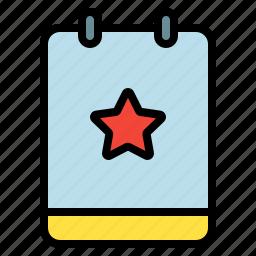 favorite, memo, note, star icon