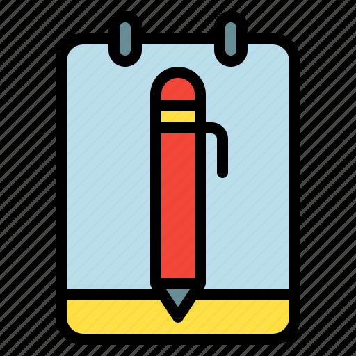 memo, note, pen, post, write icon