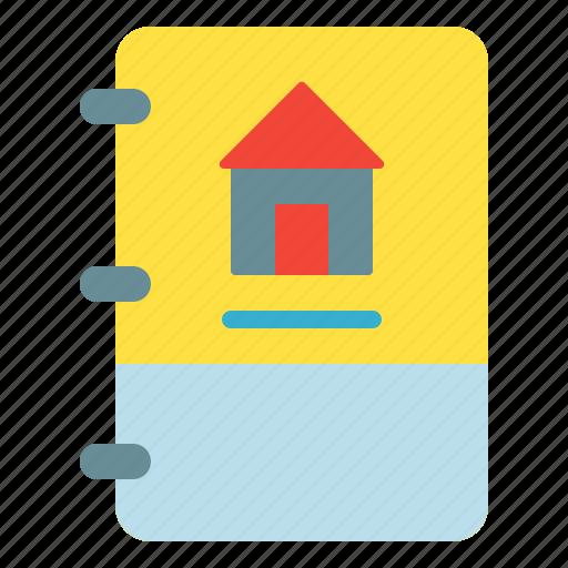 book, dasboard, home, note icon