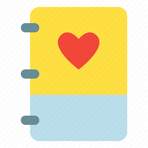 book, like, love, note icon