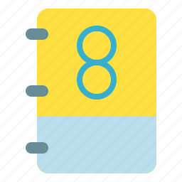 book, math, note, number icon