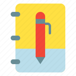 book, note, pen, post, write icon