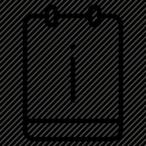important, info, memo, note icon