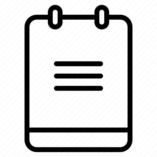 memo, menu, note, selection icon