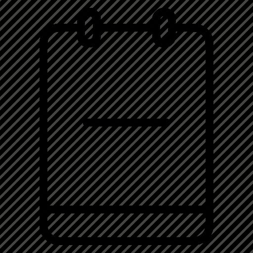 memo, minus, note, reduce icon