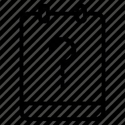 memo, note, question, unknown icon