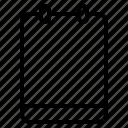 empty, memo, note, text icon